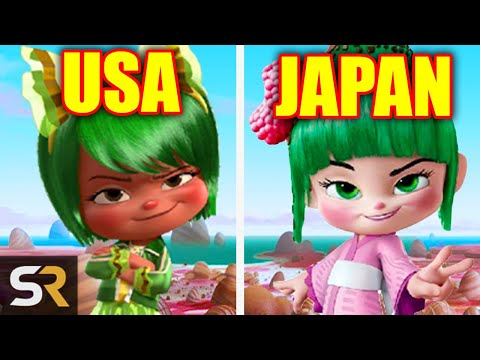 18 Animated Characters Changed In Other Countries
