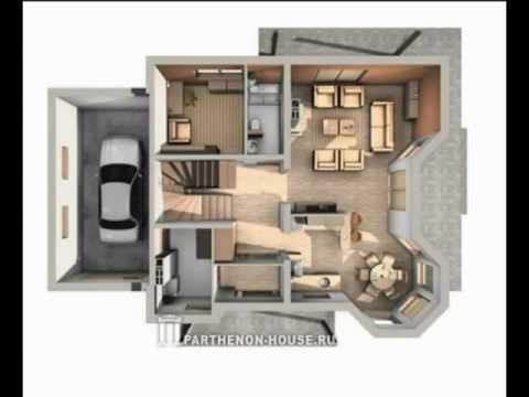 Проекты домов и коттеджей. Интерьеры..mpg