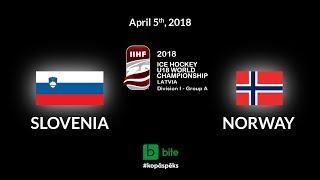 Slovenia - Norway, Ice Hockey U18 World Championship, 2018