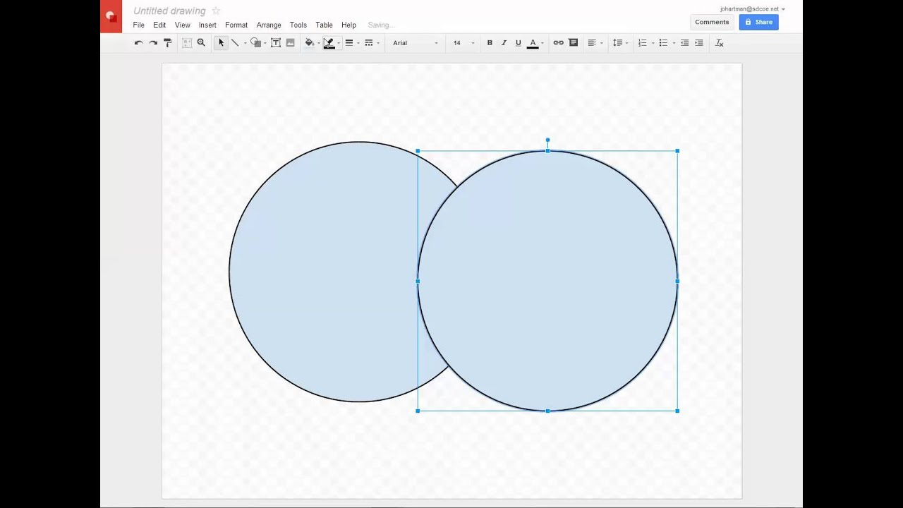 Google Drawings Making Transparent Shapes Youtube