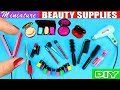 10 Miniature Beauty Supplies - Hair, Nails & Make-Up Products - 10 Easy DIY Doll Crafts