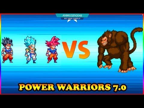 💛 GOKU SUPER SAIYAN GOD MODE SURVIVAL 💛 POWER WARRIORS 7.0 GOKU APK #4 | Unlock All Character #FHD