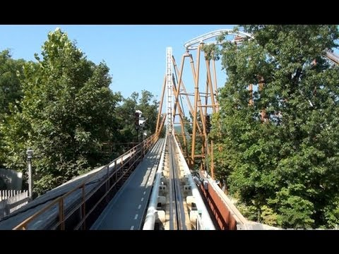Powder Keg Roller Coaster Front Seat POV Silver Dollar City