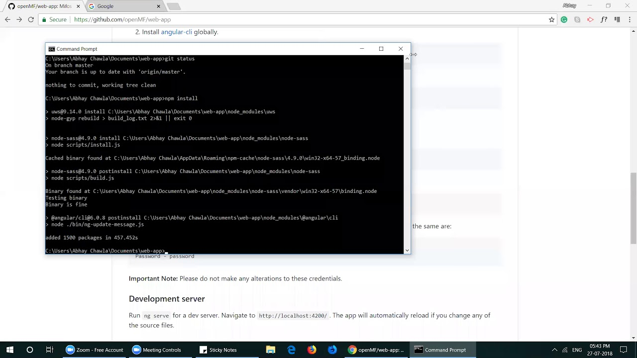 Gettting Started Tutorial for Developers Contributing to Mifos X Web App