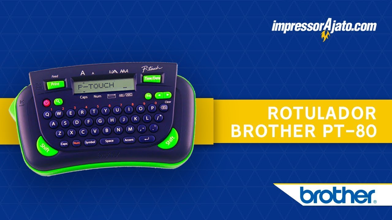 This is a picture of Vibrant Brother Model Pt 80 Label Maker Manual