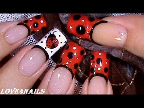 ladybug nails short & long