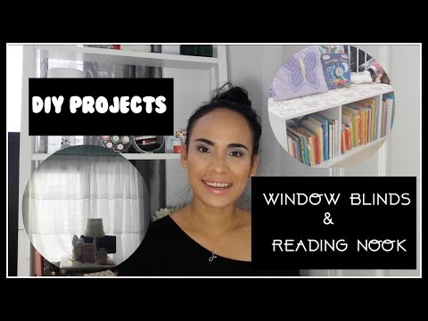 DIY PROJECT: WINDOW BLINDS & READING NOOK