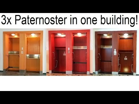 3x Paternoster Lift in 1 Building!