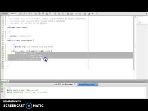 Reading Java Code - Module 6 - Symbols