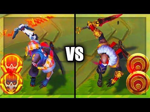 Legendary PROJECT: Pyke vs Blood Moon Pyke Skins Comparison (League of Legends)