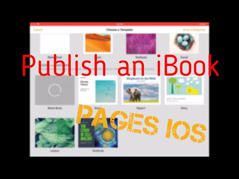 How to make an iBook in Pages iOS
