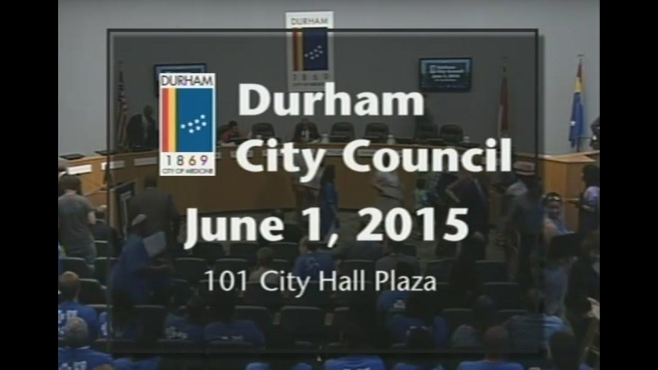 Durham City Council June 1 2015 Youtube
