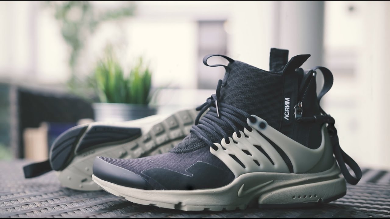 classic fit f50a9 ee45d NIKELAB AIR PRESTO MID X ACRONYM REVIEW + ON FOOT - YouTube