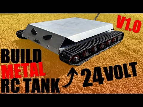 how to build a powerful metal rc robot tank V1.0