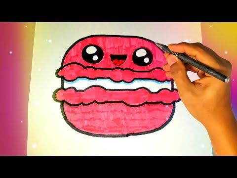 Как нарисовать милый МАКАРОН? Легкие рисунки для детей