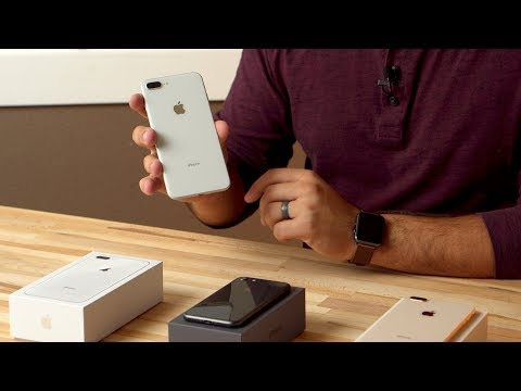 Unboxing all 3 iPhone 8 and 8 Plus colors & Quick Start Setup
