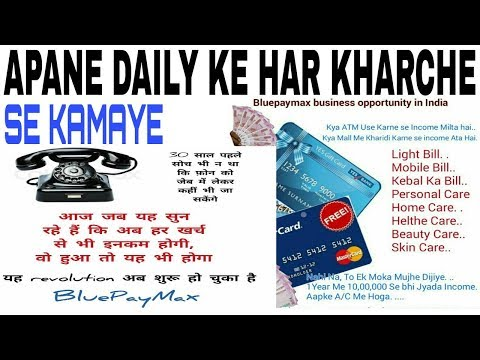 HOW TO EARN DAILY EXPENSES//BLUEPAYMAX Full BUSINESS PLAN//HDFC BANK CARD SE INCOME/Hindi/English