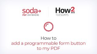 How To Add a Programmable Form Button to My PDF