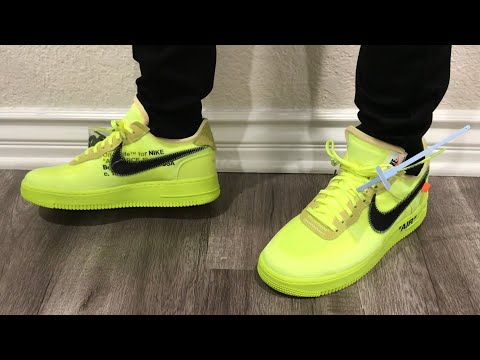 off white air force 1 sizing