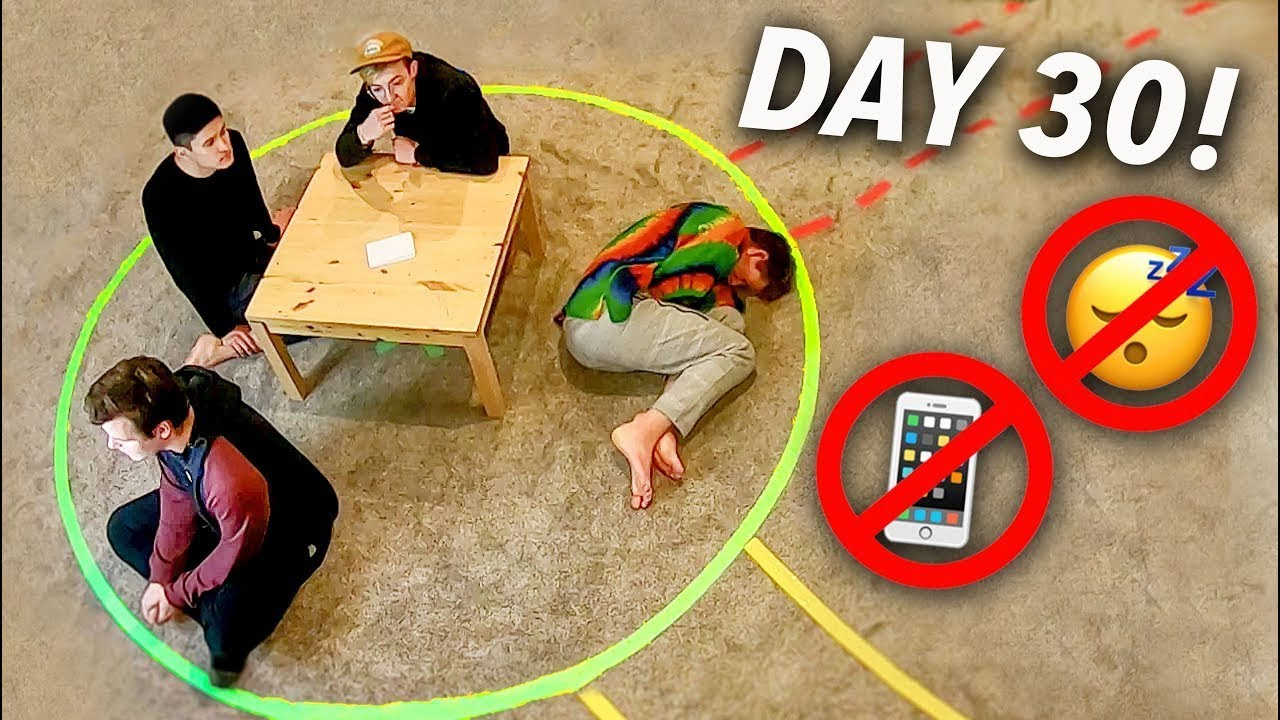 ULTIMATE Last To Leave Circle Challenge! (No Sleep, No Tech, No Food)