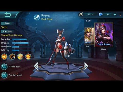 Mobile Legends Freya MVP Gameplay With Dark Rose Skin YouTube