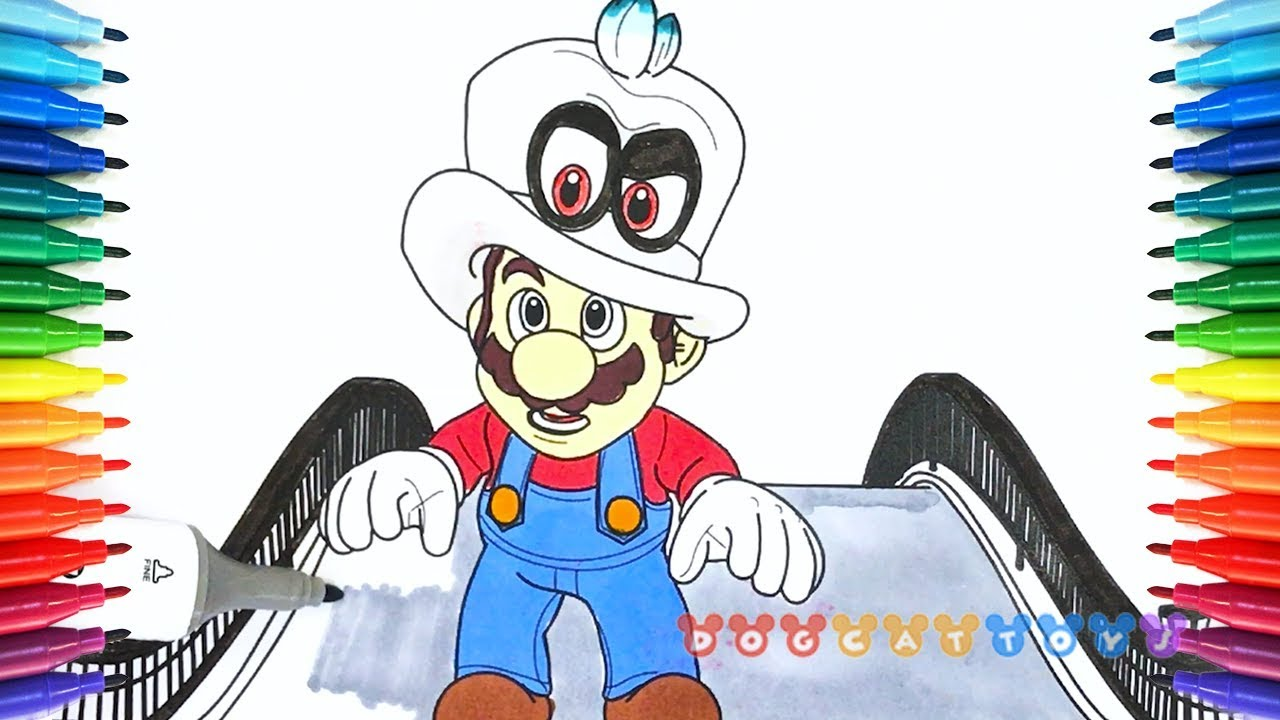 How To Draw Mario Odyssey Mario And Cappy 36 Drawing