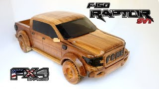 How to make Ford Raptor miniature from wood.
