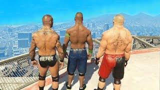 Приколы в GTA 5 | WDF 78 | WWE Нагиботерапия