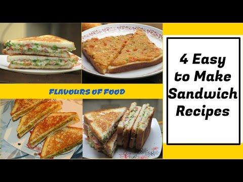 4 Easy Sandwich Recipes   Quick & Tasty Sandwich Recipes- Breakfast Recipe