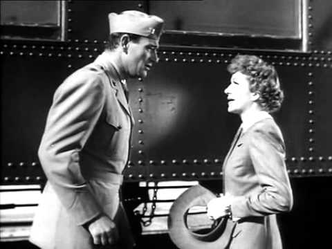 A Romantic Good Bye: John Wayne and Claudette Colbert (Without Reservations)
