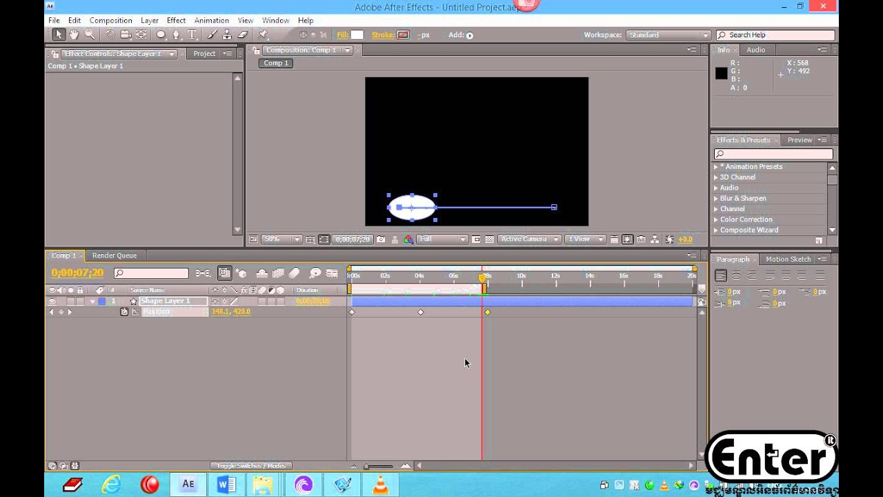 Learn After Effects CS4 - How to Copy Position from Effect to ...