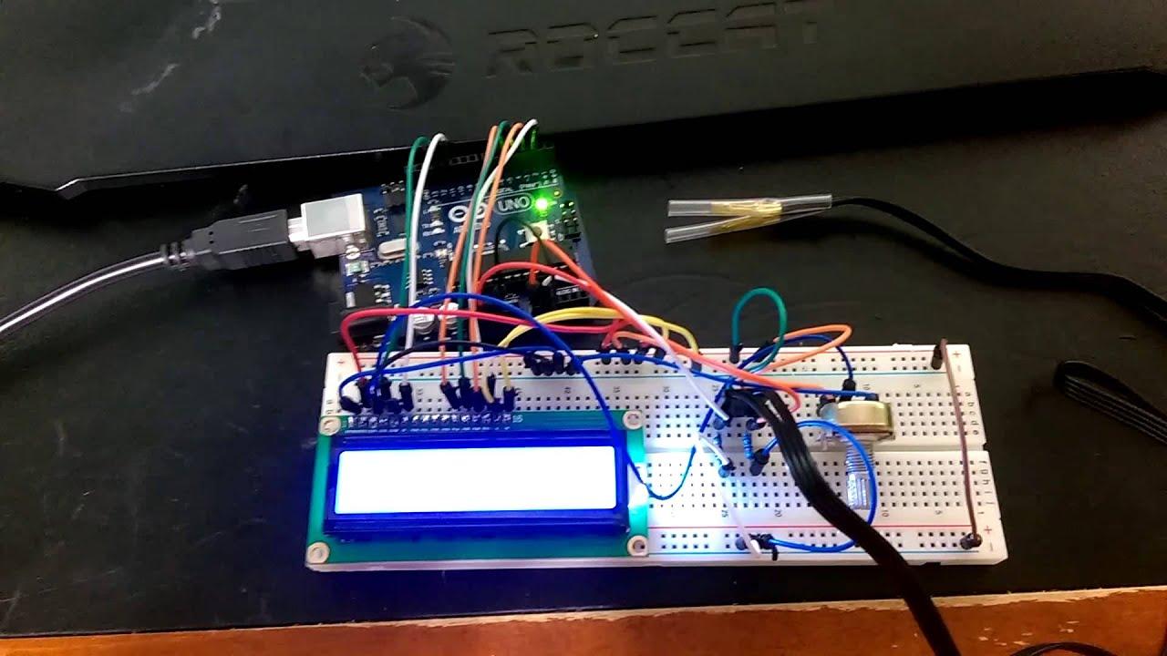 Arduino based pc temperature monitoring display pt