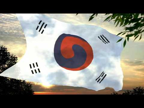 Flag and anthem of the Empire of Korea (*1392-1882)(1897-1910)