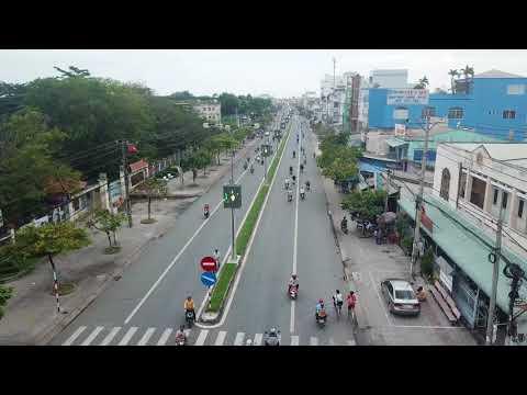 BAKO street LED display / Street light pole led advertising display in Vietnam