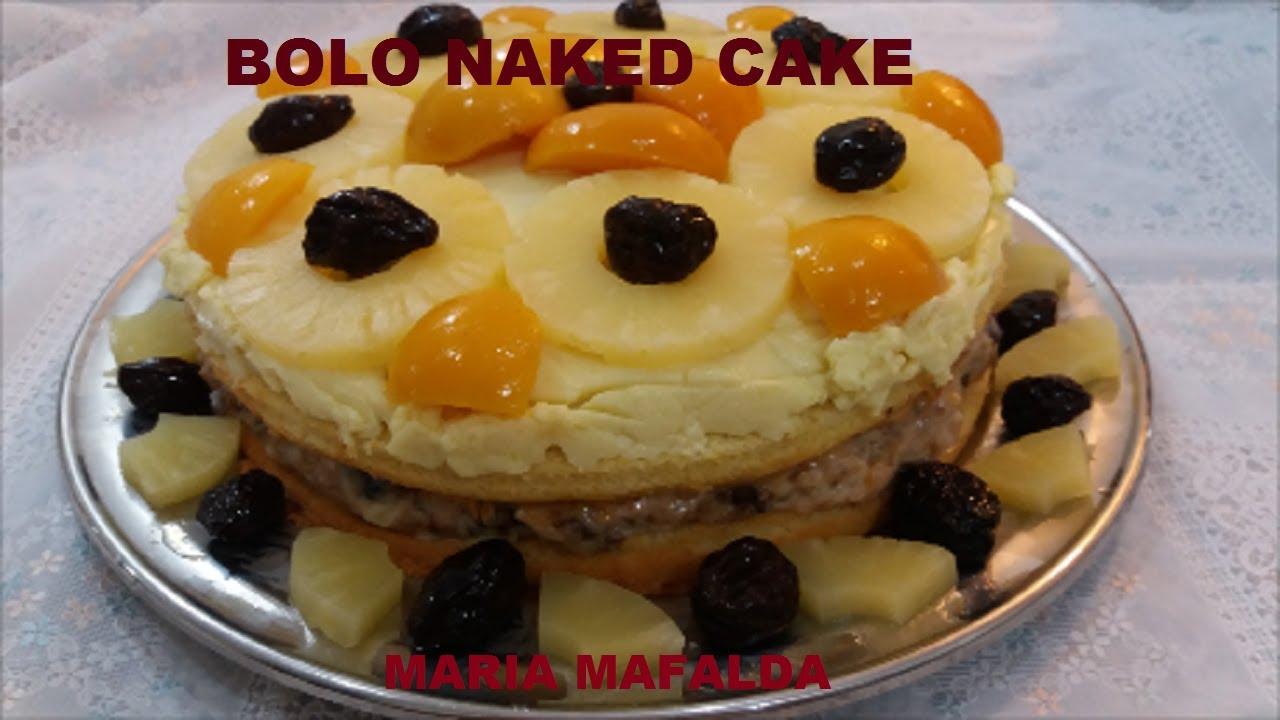 Naked Cake de Abacaxi com Coco e Brigadeiro Branco Alispec