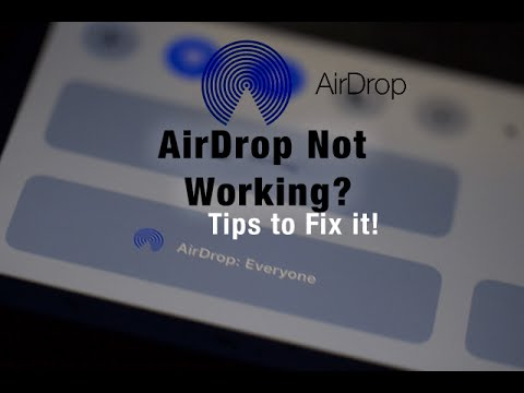 Airdrop from iphone to macbook pro not working
