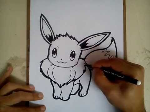 Como Dibujar A Eevee Pokemon Go How To Draw Eevee Pokemon Go