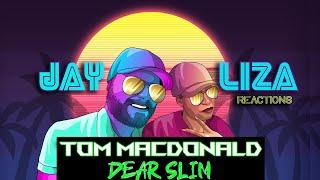 First Reaction!!! TOM MACDONALD - DEAR SLIM - Marshall, remember back when you became Eminem?