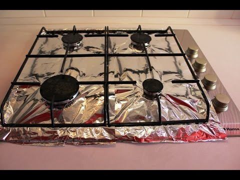Пищевая фольга для варочной поверхности. Лайфхак для кухни