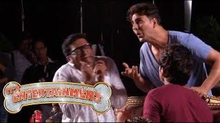 Akshay Kumar Rags Prakash Raj on the sets of Entertainment - Behind the Scenes