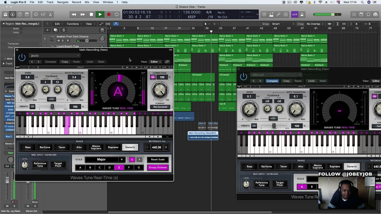 Logic Pro X - Wave Tunes Live Vs Auto Tune (Comparing Pitch Correnction  Plugins)