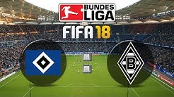 FIFA 18 Bundesliga Hamburger SV : Borussia Mönchengladbach | Gameplay Deutsch Livestream