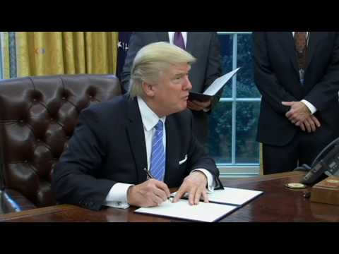 President Trump Signs Executive Order Withdrawing US From TPP