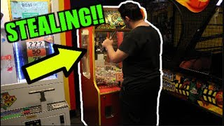 I CAUGHT HIM BREAKING INTO MY CLAW MACHINE!! | JOYSTICK