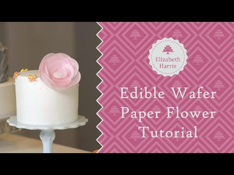 Edible Wafer Paper Flower Tutorial | Cake Decorating Tutorial