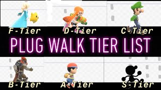 SSBU Tier List...But It's Based Off Their PLUG WALK