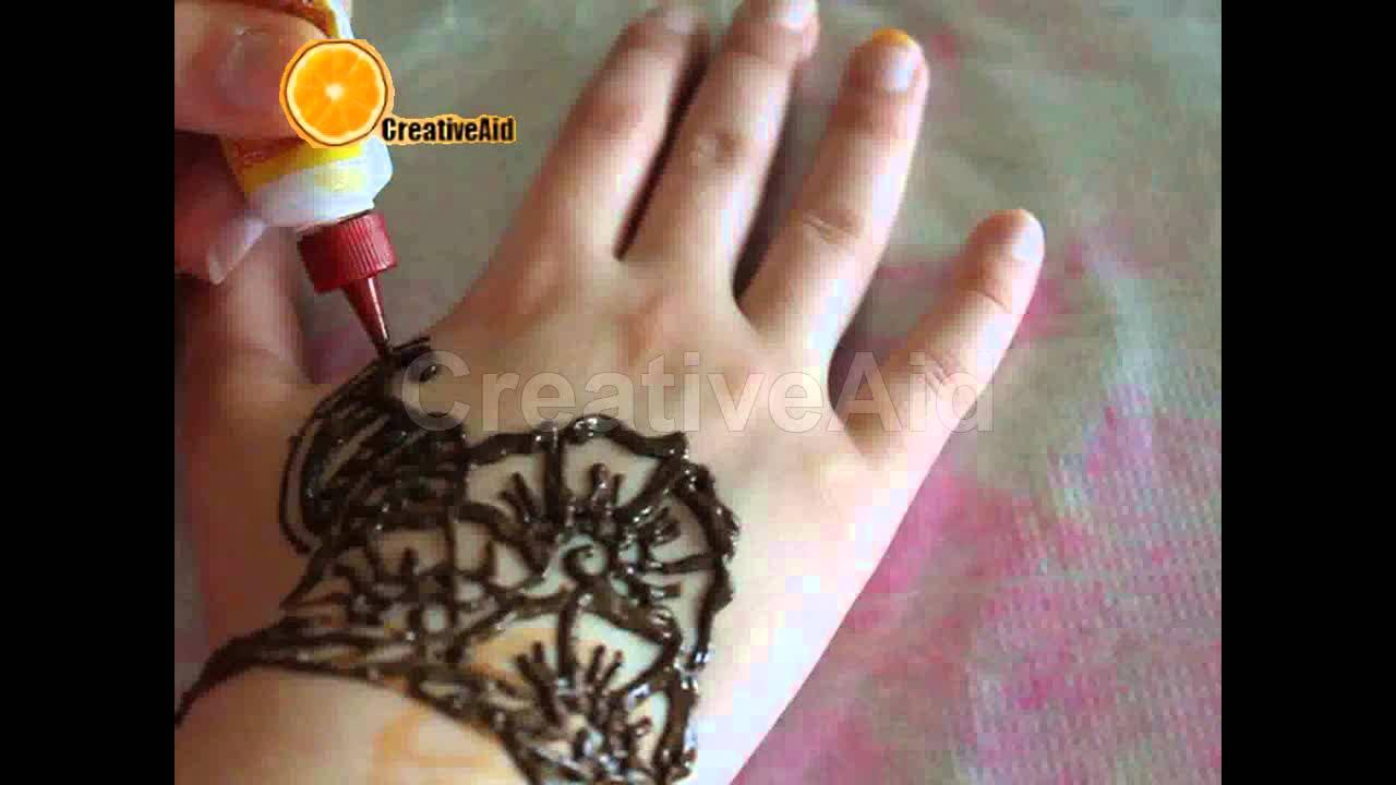طريقة رسم نقش حناء مذهل للعيد وجميع المناسبات الحلقه 4 How To Do A Henna Design Youtube