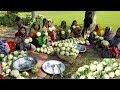 Cauliflower Pakura/Chop Prepared By Women - 80 KG Cauliflower Pakura Making To Feed Village Kids