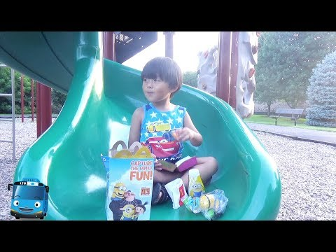 Eating McDonalds and Playing at the Playground