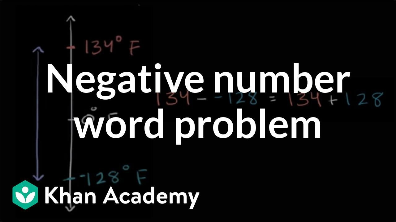 hight resolution of Negative number word problem: temperatures (video)   Khan Academy